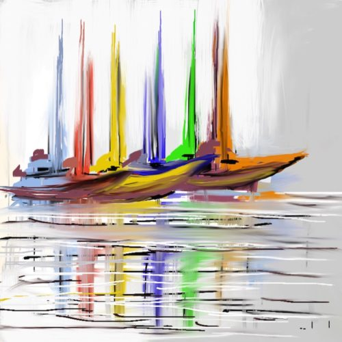 Boats on Grey LEP £325