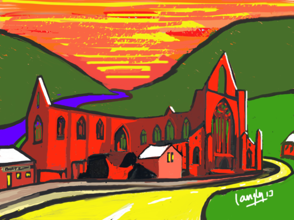 Tintern Abbey in Abstract
