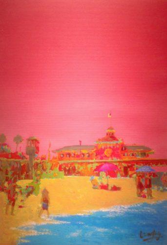 Newport Beach in Pink Currently on display at Newbridge on Usk, Newport Multi-Award Winner