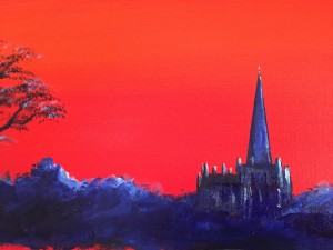 LLandaff in Red detail