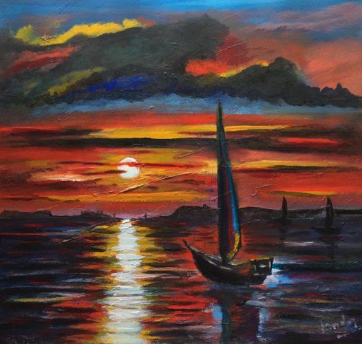Bay Boats at Dawn