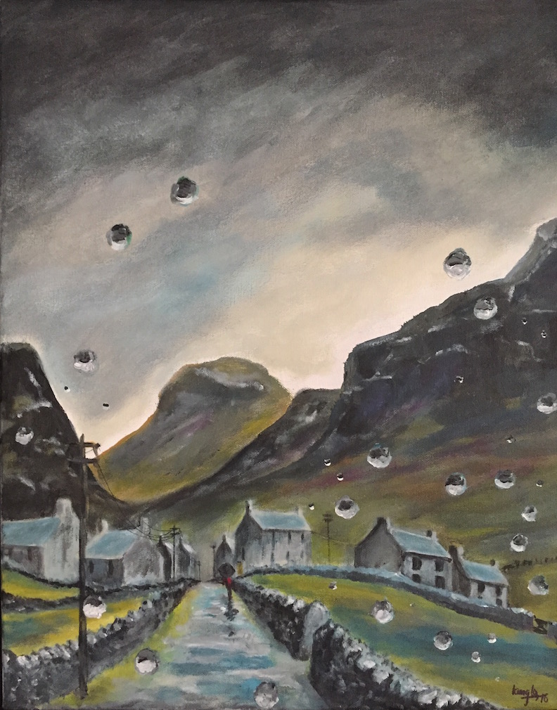 Y Pentref Drwy Glaw (Village through Rain)