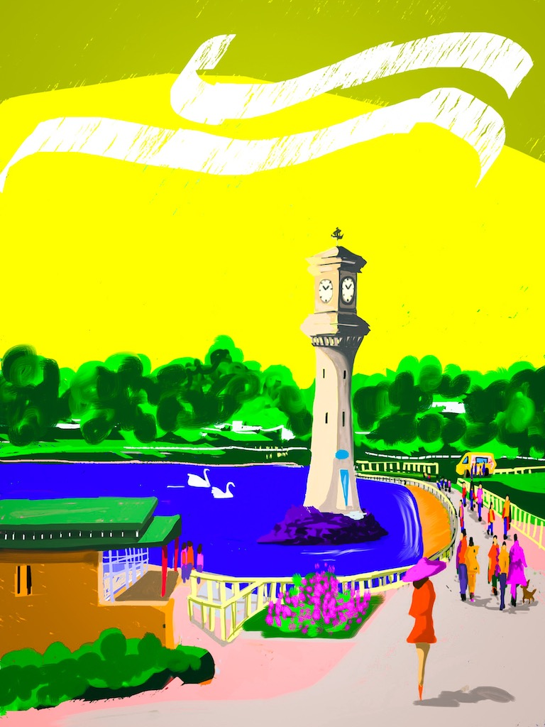 Cardiff Landmarks:  Roath Park in Abstract